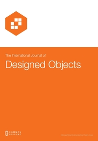 The International Journal Of Designed Objects Examines Nature And Forms Design Including Products Industrial Fashion